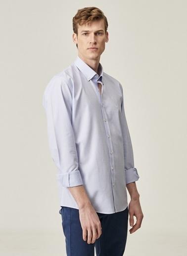 Beymen Business Regular Fit Armürlü Gömlek 4B2021100033 Beyaz